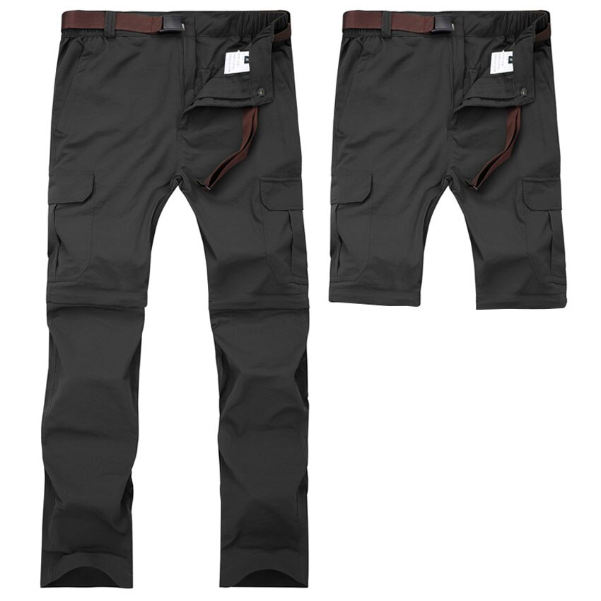 Mens Big Size Spring Summer Outdoor Pants Detachable Water repellent Sport Shorts