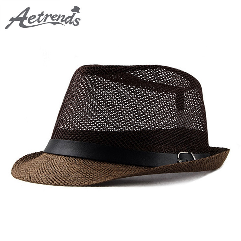 42186d04a Men's Jazz Cap Beach Straw Caps Fedora Hats for Men Fedoras Panama Hat  Z-6492