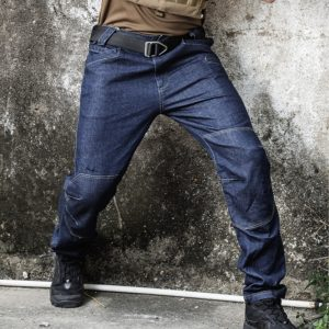 Men Tactical Denim Pants