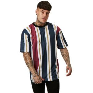 Men's Hip-Hop Colorful Striped T-Shirt