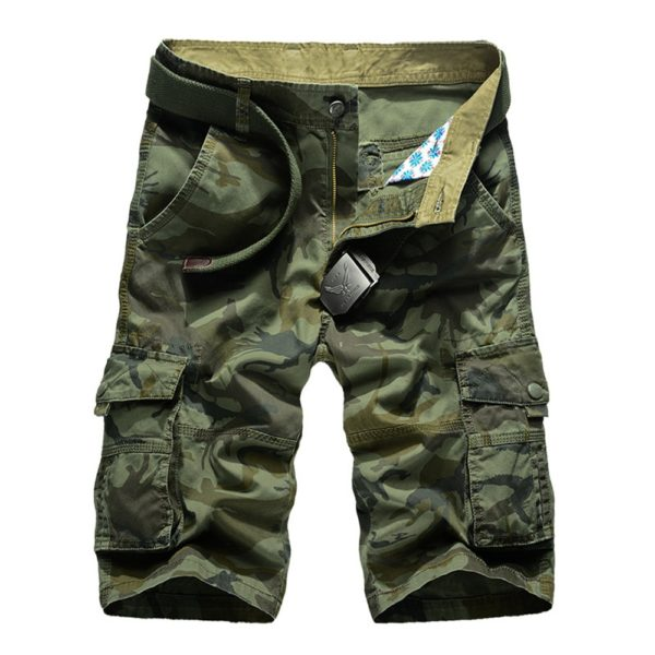 Men Shorts 2020 Fashion Plaid Beach Shorts Mens Casual Camo Camouflage Shorts Military Short Pants Male Bermuda Cargo Overalls
