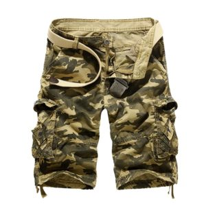 2020 New Camouflage Loose Cargo Shorts Men Cool Summer Military Camo Short Pants Homme Tactical Cargo Shorts Drop Shipping