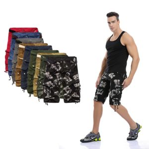 Camo Military Shorts Bermuda 2020 Summer Camouflage Cargo Shorts Men Cotton Loose Tactical Short Pants No Belt