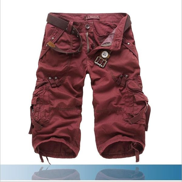 8 Colors Plus Size 29-42 New Brand Summer Camouflage Loose Cargo Shorts Men Camo Summer Short Pants Homme Cargo Shorts NO BELT