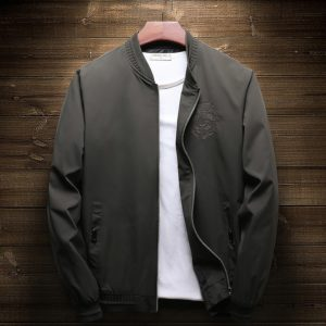 2020 New Men's Bomber Zipper Jacket for men brand clothing casual mens jacket coat embroidery quality outerwear male black