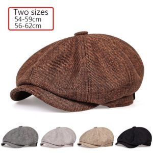 2020 New men's casual newsboy hat spring and autumn retro beret hat wild casual hats unisex wild octagonal cap