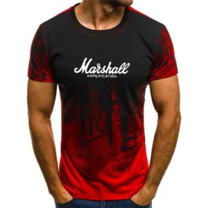 2020 summer hot sale tapestry Marshall t-shirt men's short sleeve T-shirt hip hop street style