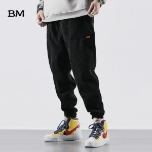 Corduroy Trousers Slim hip hop Men Casual Pants Streetwear Fashions Joggers Pants Korean Style Clothes Clothing Sweatpants male