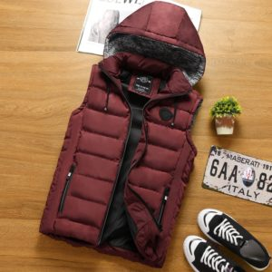 Hooded vests men Sleeveless Jacket New Men Thickening Cotton Vest Hat Hooded Warm Vest Winter Waistcoat Men Casual Windbreaker