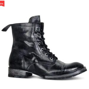Men's Retro Multiple Buckle Retro Ankle Boots-Black Friday Brogue Shoes Spring Vintage Classic Male Casual YK433