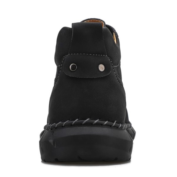 Fashion Men's Boots Handmade Men's Leather Boots Outdoor Waterproof Men's Ankle Boots Comfortable Men's Basic Boots Men Sneakers