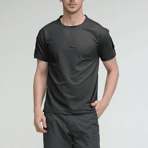 Men Tactical Breathable Tshirt Military Polyester Quick Drying T-Shirts Army Short Sleeve Wear Resistant Tee Soldier Breathable
