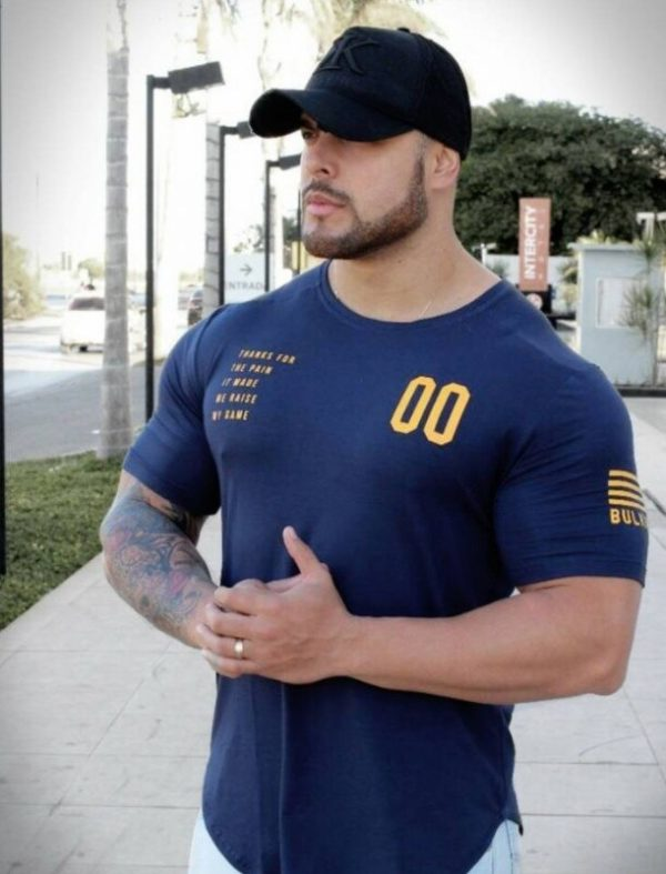 mens t shirt 2019 new summer casual cotton logo white fashion size big gyms clothing bodybuilding print blusa masculina fitness