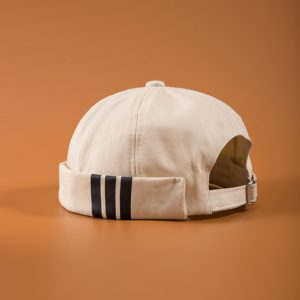 Men's Summer Cotton Brimless Skullies Cap Vintage Urban Unique Street Portable Docker Hats Multipurpose Miki Beanie Hat