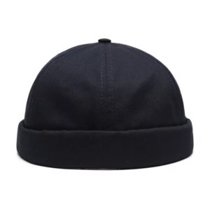 Unisex Docker Sailor Biker Cap Men Adjustable Casual Brimless Skull Loop Beanie Hat Solid Men Hat Summer Gorro Women's Hats