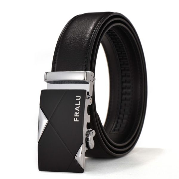 FRALU Famous Brand Belt Men Top Quality Genuine Luxury Leather Belts for Men Strap Male Metal Automatic Buckle 110-150 Long