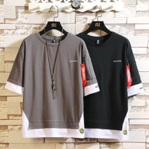 Fashion Half Short Sleeves Fashion O NECK Print T-shirt Men's Cotton 2020 Summer Clothes TOP TEES Tshirt Plus Asian Size M-5X.