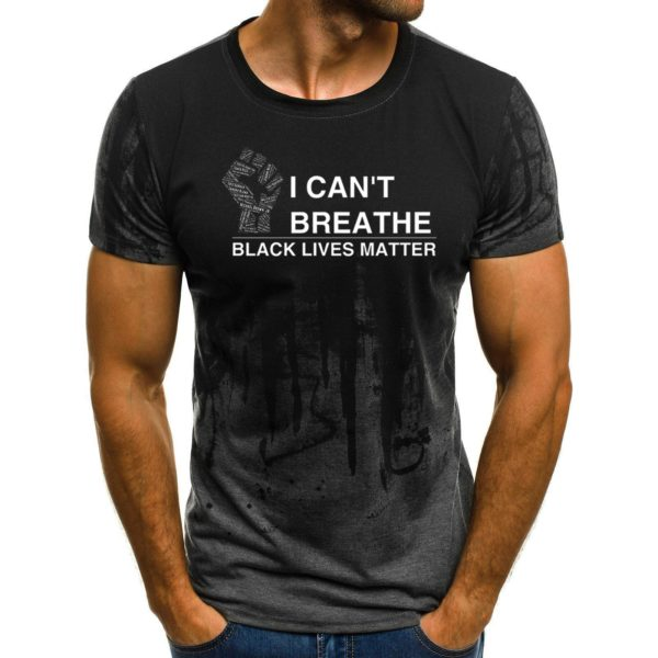 Ink Painting Printed T-shirt (4 Styles) Summer Breathing Rights Protection Men's T-shirt Large Size