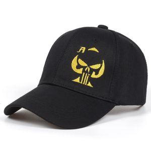 high quality Playing Card Ace of Spades Cap Punisher Skull Sniper Hat Embroidered Black Baseball Cap Hat Men Women Sports Cap