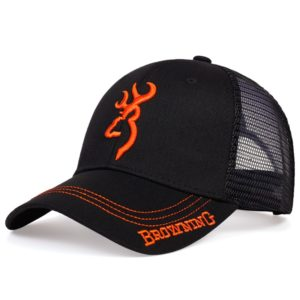 New BROWNING embroidery baseball cap men's hip-hop tide hat ladies summer breathable mesh cap outdoor sun hat trucker hats