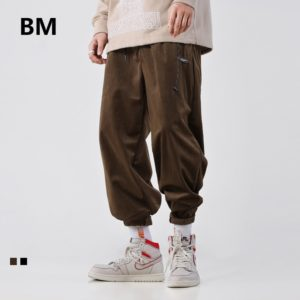 2020 Fashion Hip Hop Corduroy Casual Pants Streetwear Men Clothing Harajuku Trousers Kpop Clothes Korean Straight Pants Male