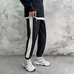 Privathinker Men's Straight Patchwork Harem Pants Korean Man Loose Fashion Sports Trousers Autumn Streetwear Male Casual Pants