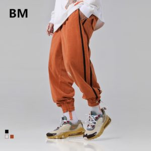 2020 Fashionable High Quality Hip Hop Striped Sweatpants Kpop Clothes Streetwear Korean Style Sports Running Pants Men Joggers