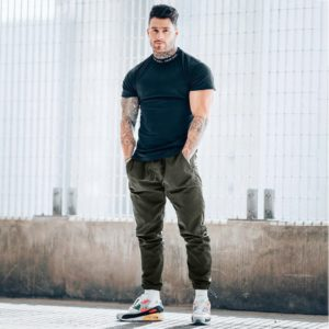 All Season Men Pants Sweatpants Streetwear Ankle Drawstring High Elasticity Comfortable for Men Jogger Sports