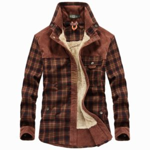 Brand Mens Shirt Thick Warm Winter Shirts Men Fleece Plaid Pure Cotton Camisa Masculina Casual Fashion Gentlemen Chemise Homme