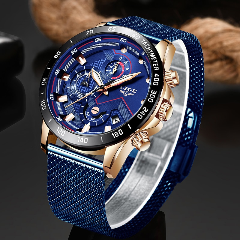 Men's Luminous Waterproof Round Quartz Watch