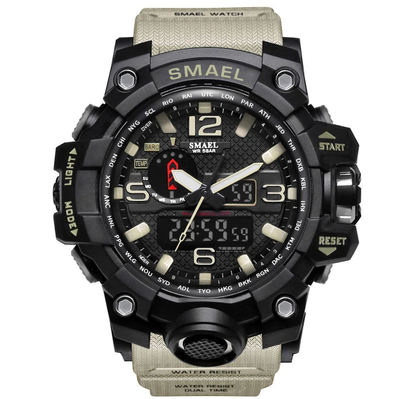 Men's Military 50m Waterproof LED Quartz Watch