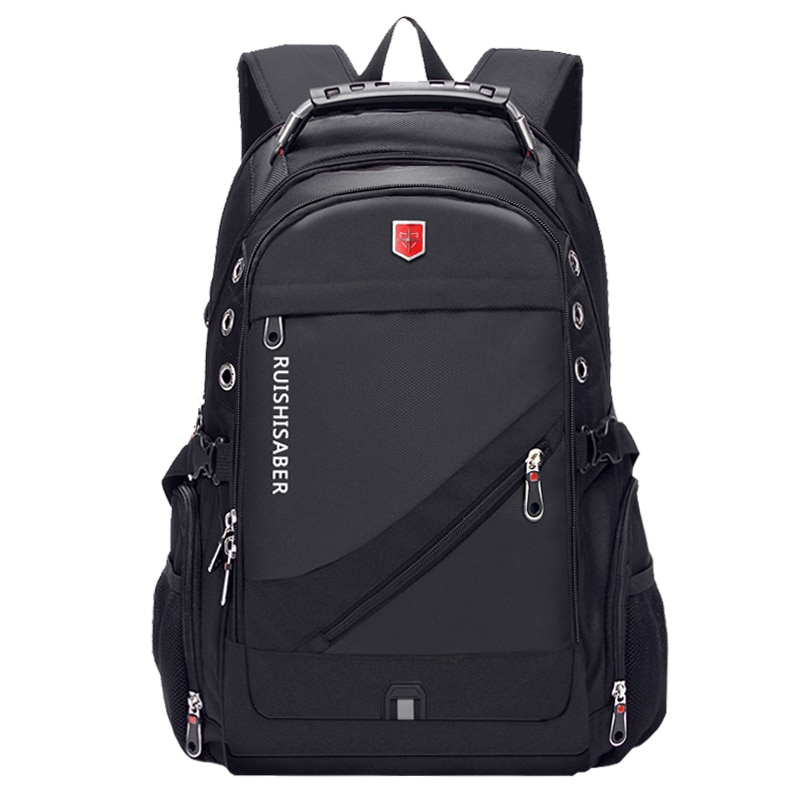 Men's Diagonal Zippper USB Backpack