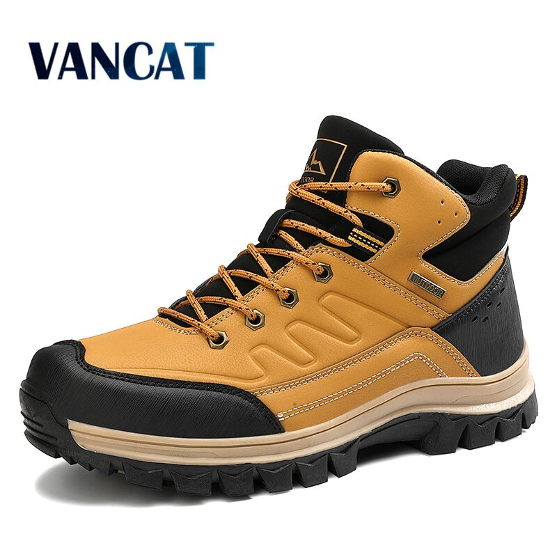 2020 New Spring Autumn Waterproof Ankle Boots Breathable Motorcycle Boots Men's Sneakers Fashion Outdoor Hiking Boots Men Boots