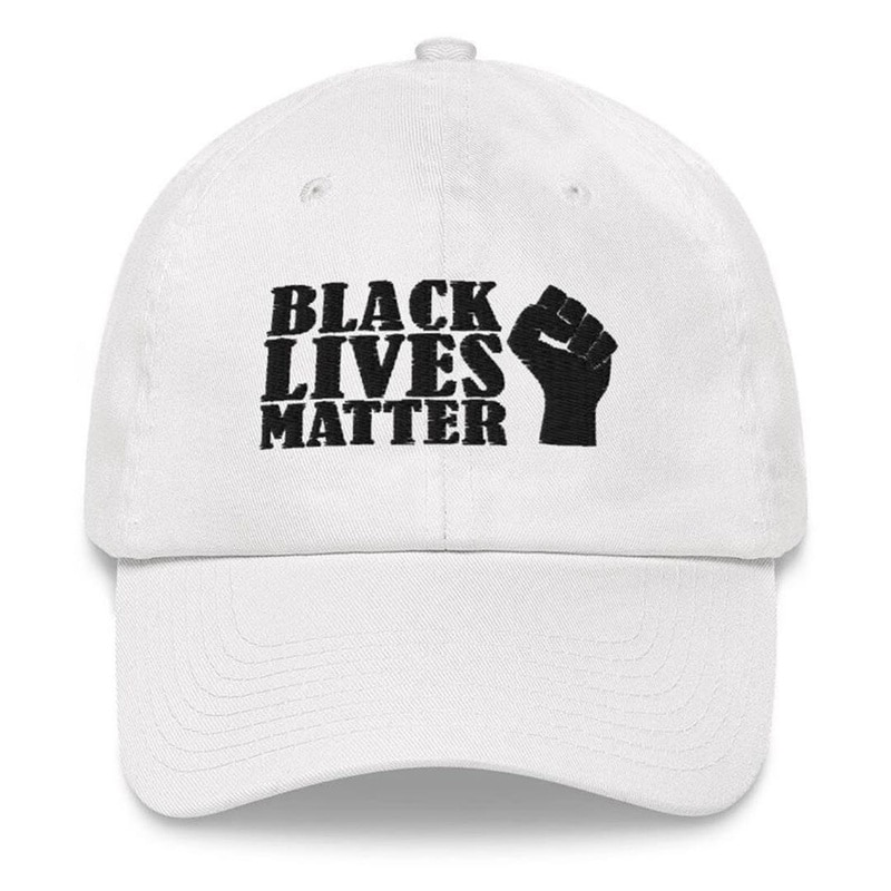 Black Lives Matter Baseball Cap with Fist Embroidery