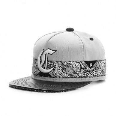 Grey Colored Snapback with Embroidery